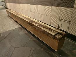 水道木管のベンチ