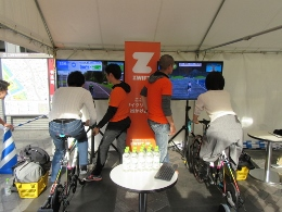 自転車体験コーナー