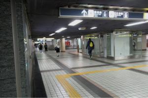 JR→日比谷線・銀座線乗換バリアフリールート06