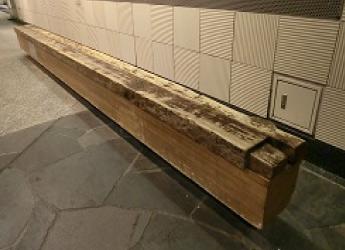 ベンチ 水道木管のベンチ