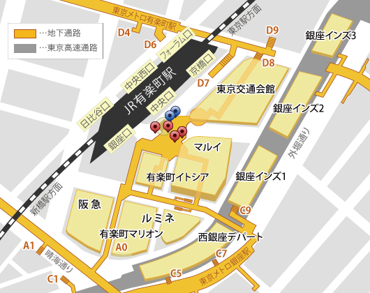 有楽町駅周辺マップ